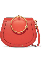 Nile Bracelet leather and suede shoulder bag