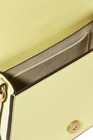 Chloé Nile Bracelet kleine Schultertasche aus Leder und Veloursleder