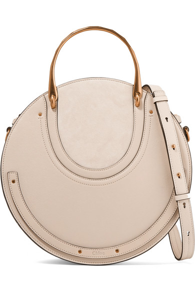 1528d927c9 Pixie large suede and textured-leather shoulder bag