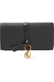 Chloé Textured-leather continental wallet