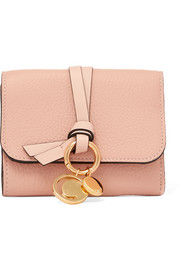 Chloé Embellished textured-leather wallet