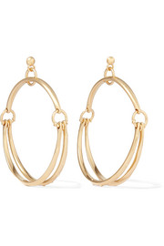 Chloé Nile gold-plated hoop earrings