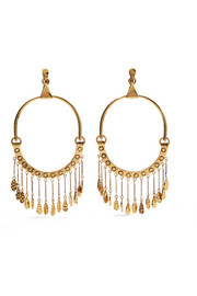 Chloé Quinn oversized gold-tone clip earrings