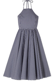 Gretta gingham cotton-poplin dress
