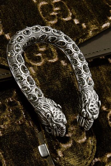 93f0b5d0778 Gucci. Dionysus leather-trimmed embossed velvet shoulder bag.  2