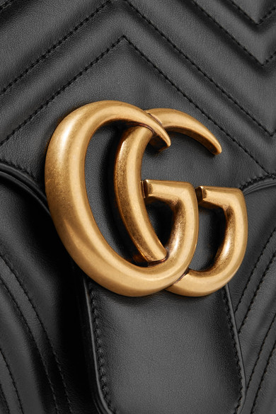 6c3382d87ae Gucci. GG Marmont large quilted leather shoulder bag.  2