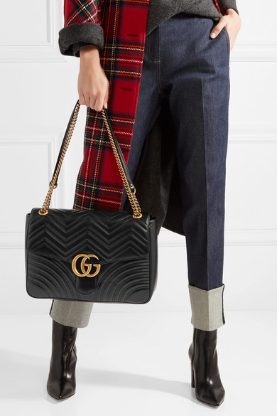 c0030f6f4 Gucci. GG Marmont large quilted leather shoulder bag. £1,790.00. Zoom In