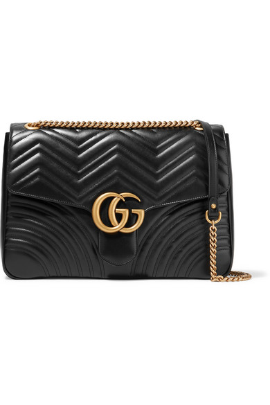 c50ff1aef47 Gucci. GG Marmont large quilted leather shoulder bag