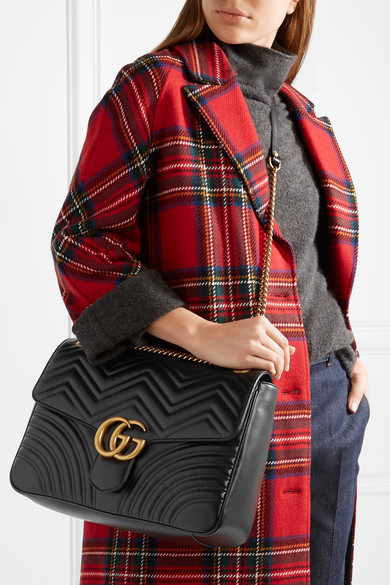 c0c85940e Gucci | GG Marmont large quilted leather shoulder bag | NET-A-PORTER.COM
