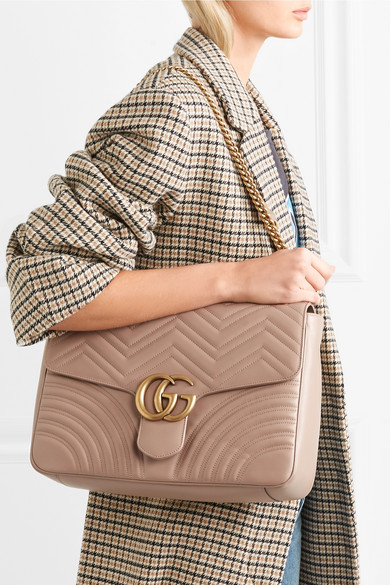 66f4533a6b2c Gucci | GG Marmont large quilted leather shoulder bag | NET-A-PORTER.COM