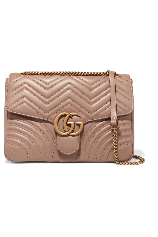 Gucci GG Marmont große Schultertasche aus gestepptem Leder