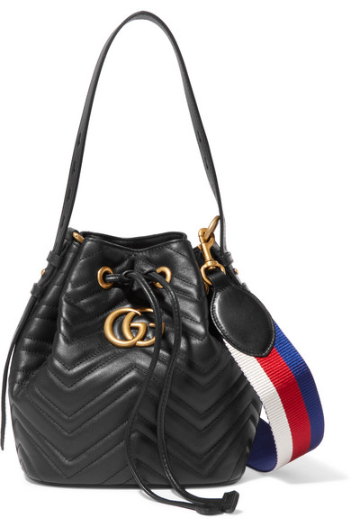 d1145888a40dea Gucci   GG Marmont quilted leather bucket bag   NET-A-PORTER.COM