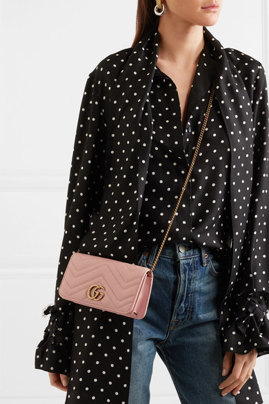 f3654f2cb6 Gucci | GG Marmont mini quilted leather shoulder bag | NET-A-PORTER.COM