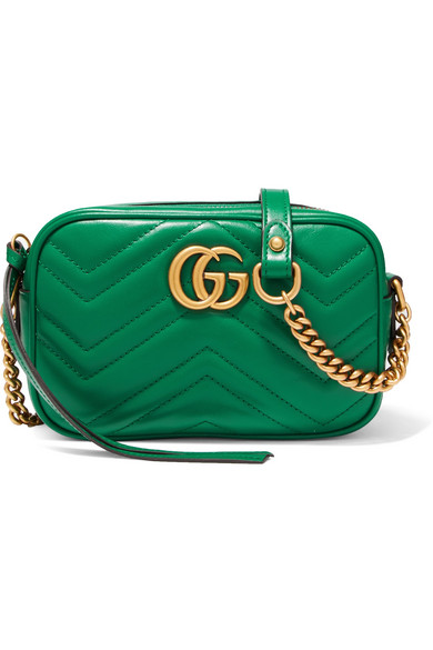 Gucci - Gg Marmont Camera Mini Quilted Leather Shoulder Bag - Emerald