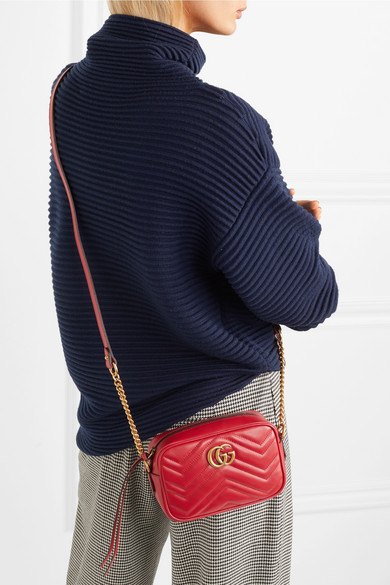 f95c1fc47839 Gucci | GG Marmont Camera mini quilted leather shoulder bag | NET-A ...