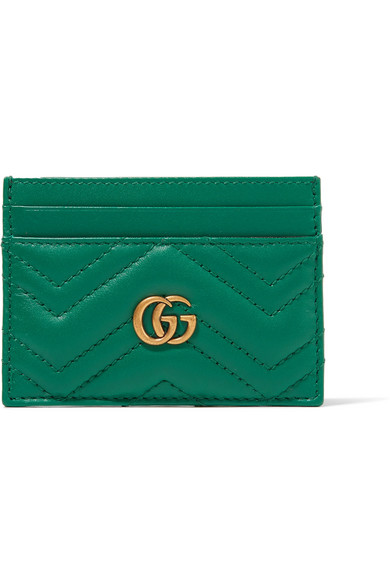 Gucci - Gg Marmont Quilted Leather Cardholder - Emerald