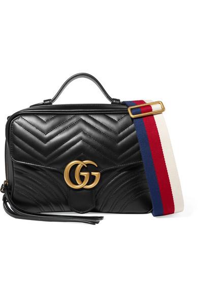 Gucci   Sac porté épaule en cuir matelassé GG Marmont   NET-A-PORTER.COM 3d1529a41b7
