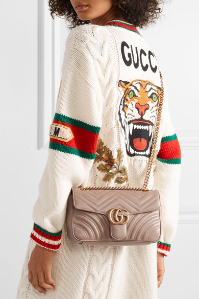 6740b2ca505b Gucci | GG Marmont small quilted leather shoulder bag | NET-A-PORTER.COM