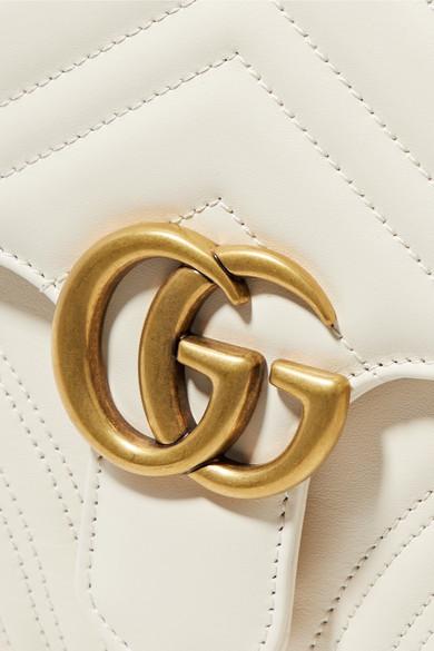 Gucci GG Marmont kleine Schultertasche aus gestepptem Leder Preise Online-Verkauf Caj81z