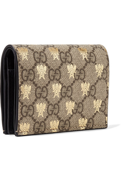 Gg Supreme Printed Coated-canvas And Leather Wallet - Beige Gucci n4hRMwz