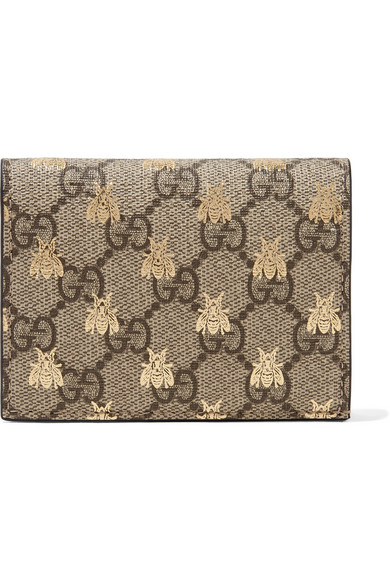 914e60a5e Gucci | GG Supreme printed coated-canvas and leather wallet | NET-A ...