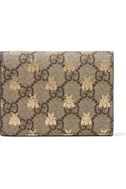 GG Supreme printed coated-canvas and leather wallet