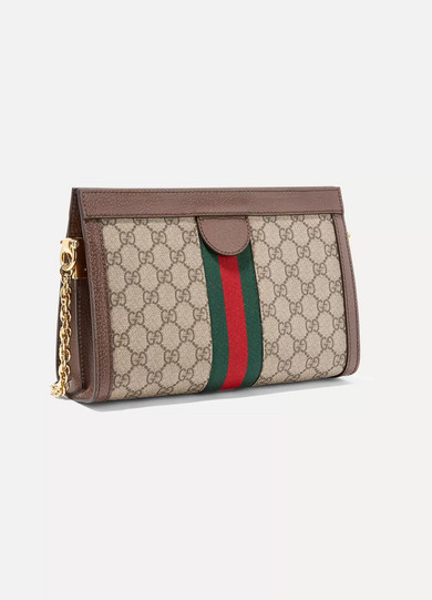 Ophidia Textured Leather-trimmed Printed Coated-canvas Cardholder - Beige Gucci k5bjwoMvUQ