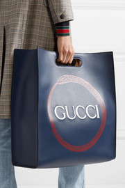 Gucci XL printed leather tote