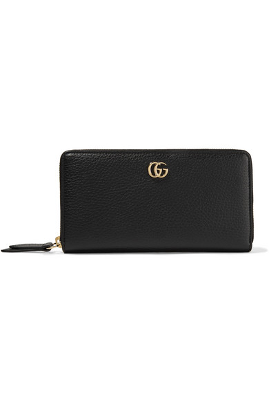 06e43391f8b Gucci. Marmont Petite textured-leather wallet