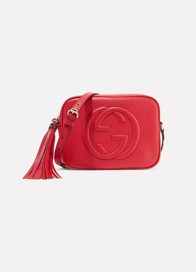 cda587b9da5f Gucci. Soho Disco textured-leather shoulder bag