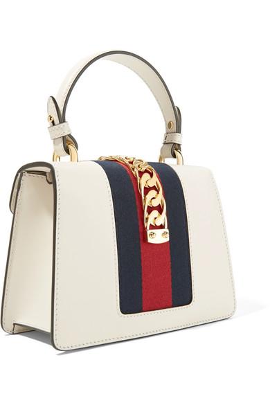Gucci Sylvie mini Schultertasche aus Leder mit Kettenverzierung Die Günstigste Zum Verkauf O9ORmc5RsB