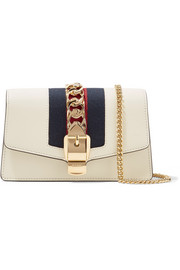 Gucci Sylvie mini chain-embellished leather shoulder bag