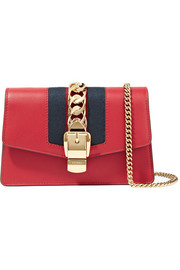 Sylvie mini chain-embellished leather shoulder bag