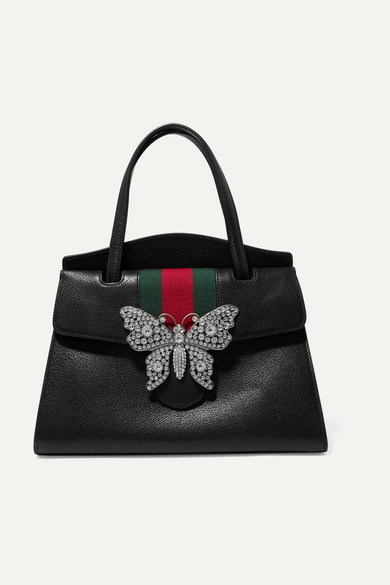 Günstiger Preis Versandkosten Für Billig Verkauf Sehr Billig Gucci GucciTotem Tote aus strukturiertem Leder mit Kristallen Auslass-Angebote Fälschung dAemcI