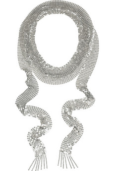 Isabel%20Marant John%20silver-tone%20chain-mail%20scarf%20necklace%20