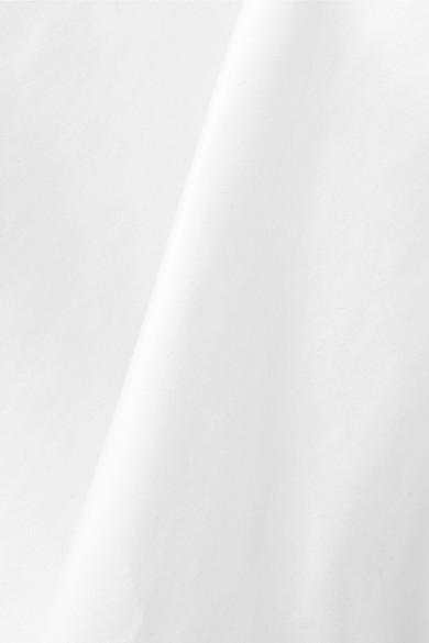 Caroline Constas Josie Popelinebluse aus einer Baumwollmischung mit Wickeleffekt