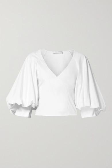 caroline constas josie wrap effect cotton blend poplin blouse Knitted Baby Wrap Pattern caroline constas
