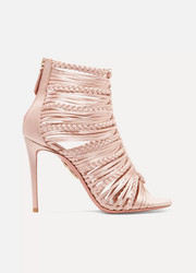 Aquazzura Goddess braided satin sandals
