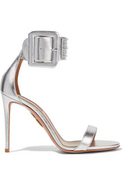 Aquazzura Casablanca metallic leather sandals