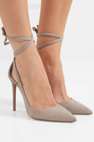 Aquazzura Milano 105 suede pumps