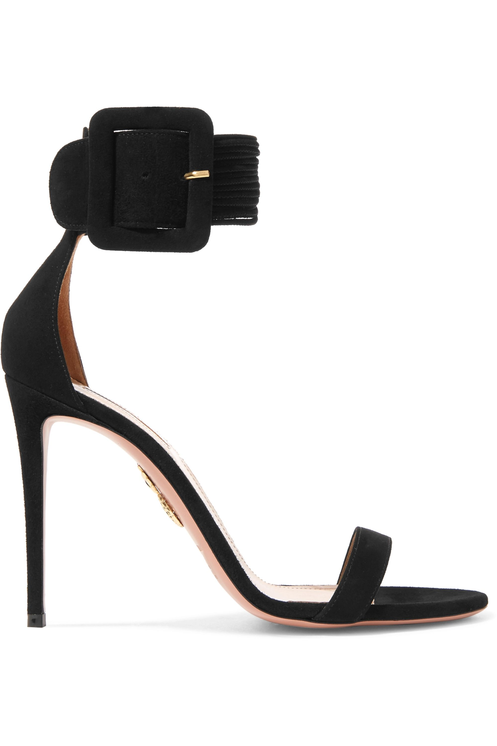 Aquazzura Casablanca suede sandals