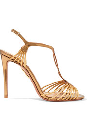 Aquazzura Josephine metallic leather sandals