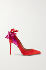 Aquazzura Fire embellished satin pumps