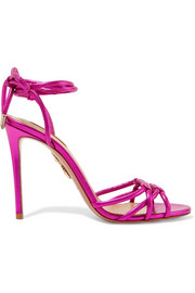Aquazzura Laura metallic leather sandals