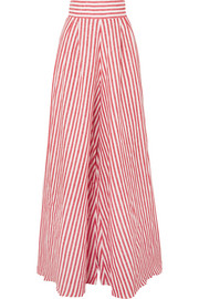Tequila striped linen wide-leg pants