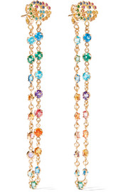 Gucci 18-karat gold multi-stone earrings