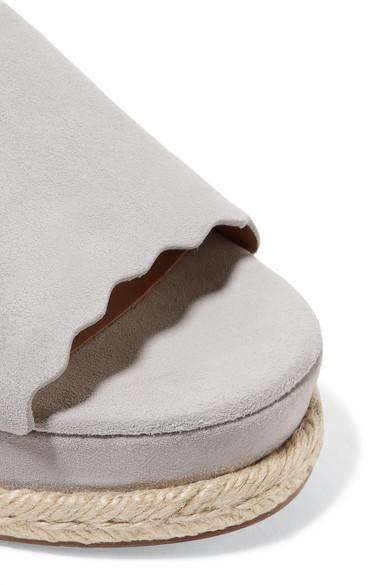 Kostenloser Versand Chloé Lauren Plateausandalen aus Veloursleder im Espadrille-Stil Verkauf Sammlungen Xd3sdFTrD