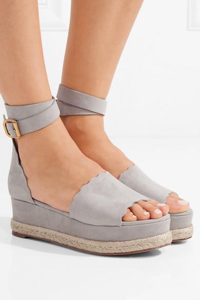21cb156dcd7 Chloé. Lauren suede espadrille platform sandals