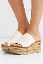 Chloé Camille leather wedge sandals