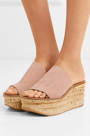 Chloé Camille suede wedge sandals